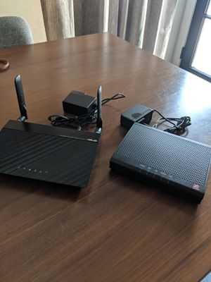 Zoom Cable Modem 3.0 with Asus RT-AC53U Router for Sale in Tustin, CA