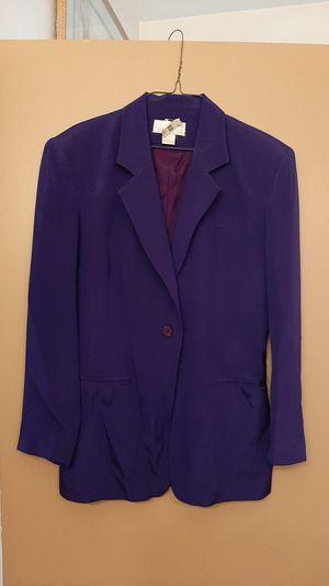 Gorgeous royal blue silk blazer size 6 for Sale in Scottsdale, AZ