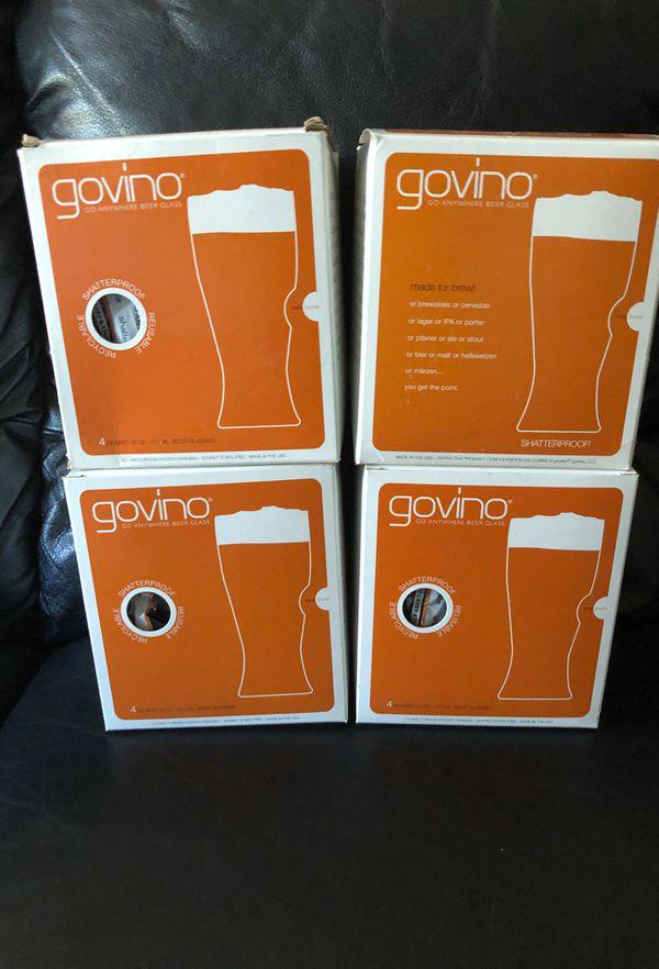 Govino Beer Glasses Reusable Pack Of 4 each Box
