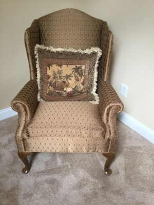 Queen Ann Wing Back Chair for Sale in Rocky Mount, NC