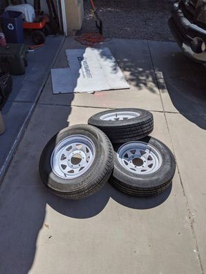 6 lug trailer wheels and tires. Set of 3. for Sale in Chandler, AZ