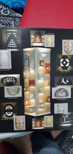 Outdoor lighting and ceramic light covers for indoor outdoor use for Sale in Corpus Christi, TX