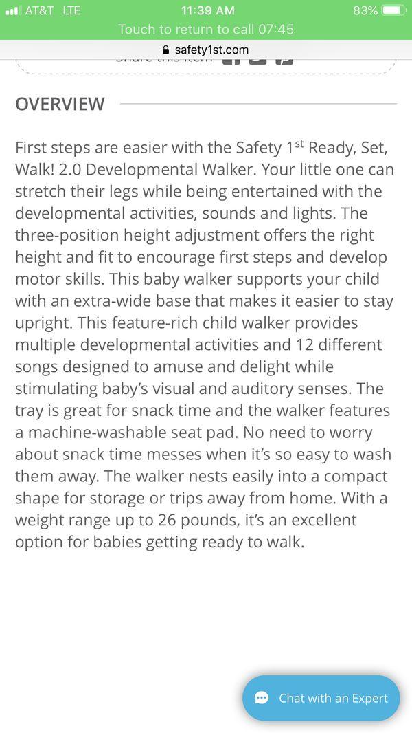 Safety first baby walker