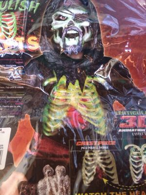Zombie halloween costume lights up for Sale in San Diego, CA