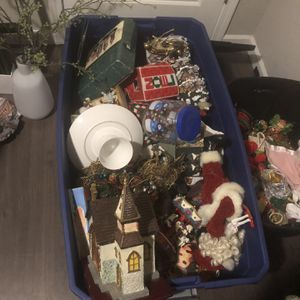 Box Of Christmas Decorations for Sale in Angier, NC