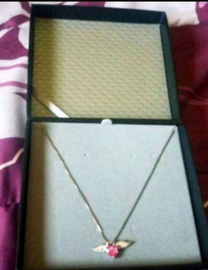 Pink silver heart necklace for Sale in Phoenix, AZ