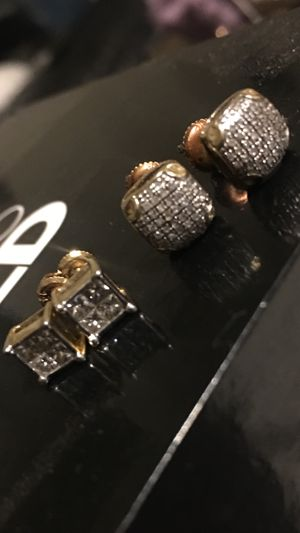 Two sets of real diamond earings in 10 k settings 650 for both for Sale in Antioch, CA