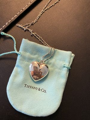 Tiffany Heart Necklace Long Large Silver Classic Italy Authentic for Sale in Washington, DC