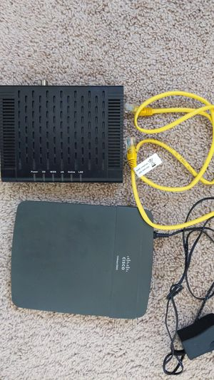 DLink Modem and Cisco router Combo for Sale in Strongsville, OH