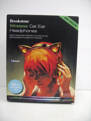 Brookstone Wireless Cat Ear Headphones Bluetooth Headset - Color Changing NEW for Sale in Los Angeles, CA