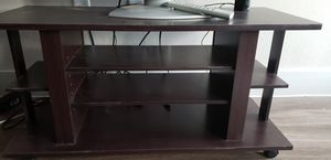 Rolling TV Stand (Mahogany) for Sale in Nashville, TN