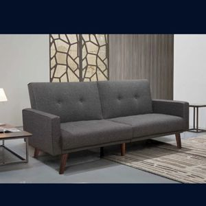 Brand new tufted Button Linen Split Back Sofa Bed for Sale in San Dimas, CA