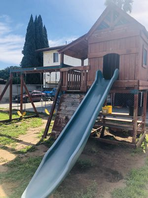 Swing set with play fort for Sale in Chula Vista, CA