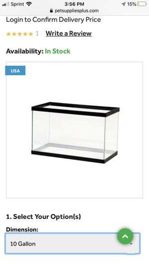 10 gallon fish tank, and extras for reptiles: turtle, lizards, crab. for Sale in Lexington, SC