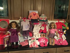 2 American Girl Dolls - Wardrobe - Boxed Clothes - Horse & Accessories - Canopy Bed & Animal Friends for Sale in Martinez, CA