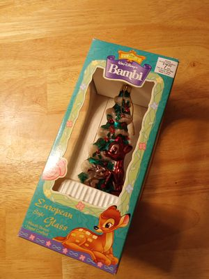 Santa's best Disney's classic Bambi European style glass Christmas ornament for Sale in Portsmouth, VA