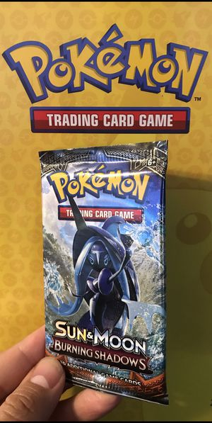 Pokemon Cards Sun & Moon Burning Shadows Booster Pack for Sale in Los Angeles, CA