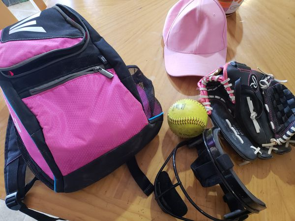 Girls softball gear