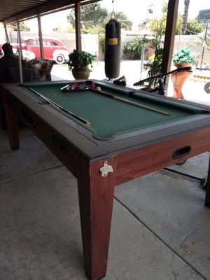 Pool table and air hockey table. for Sale in San Bernardino, CA