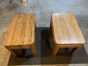 Wood Couch End Tables for Sale in Tacoma, WA