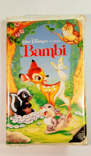 Bambi Black Diamond Disney Classic VHS for Sale in North Lauderdale, FL