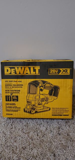 DEWALT 20-Volt MAX XR Lithium-Ion Cordless Brushless Jigsaw (Tool-Only) for Sale in Bakersfield, CA