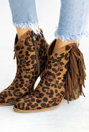 Cheetah Print Fringe Ankle boots for Sale in Atascocita, TX