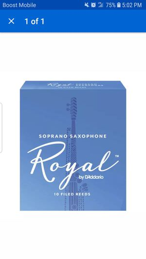 Royal by D'Addario Soprano Saxophone Reeds, Strength 2.5, Box of 10 for Sale in Glenarden, MD
