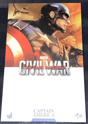 Captain America civil war 1/6 figure hot toys marvel movie masterpieces mms350 for Sale in Queens, NY