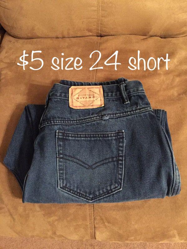 Jeans size 24 women's shirt