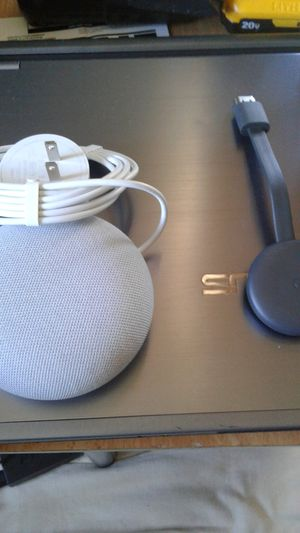 Google nest speaker & chromecast for tv package deal or part out $100 OBO for Sale in Tampa, FL
