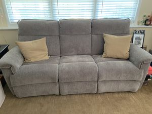 Couch with dual recliner for Sale in Toms River, NJ