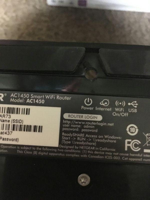 Netgear AC1450 Smart Dual Band Router + Gigabit DSL Modem