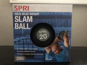 NEW 20 lb Premium Slam/wall Ball Rubber Exercise Workout Cardio Medicine Ball for Sale in BELLEAIR BLF, FL
