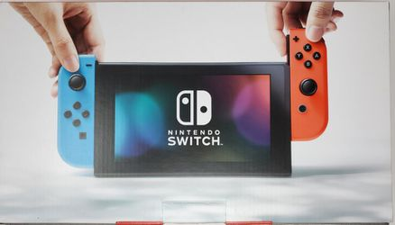 Switch Trades Welcome PS4 Xbox Playstation Nintendo With Blue & Neon Red Joy-Cons Good Condition Complete for Sale in Stafford, TX