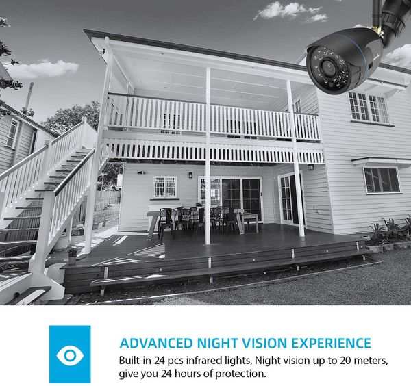 Outdoor Security Camera, Wansview 1080P WiFi Home Surveillance