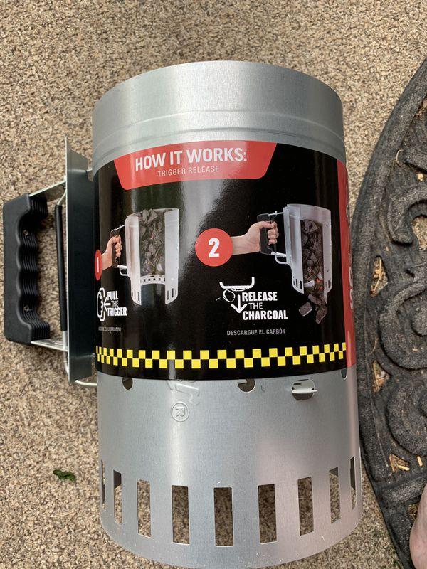 New Char-griller chimney starter - trigger release
