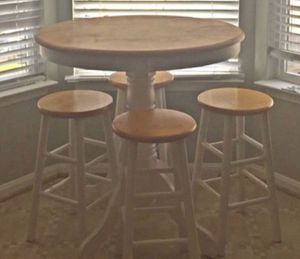 Kitchenette Pub style table w 2 stools for Sale in Ashburn, VA