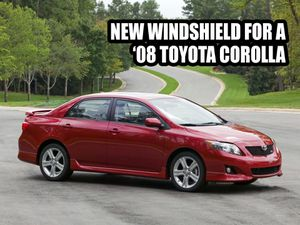New windshield for a '08 Toy Corolla for Sale in Denver, CO