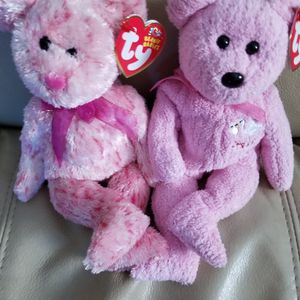 Beanie Babies TY Original Smitten and Its a Girl Both for $16.00 for Sale in Coronado, CA