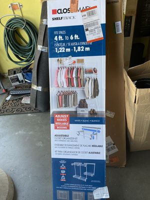 ClosetMaid ShelfTrack Wire Closet System Organizer Kit for Sale in Fresno, CA