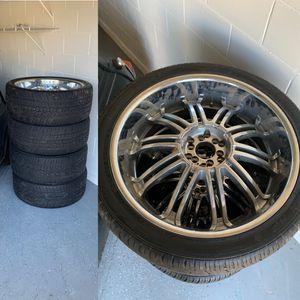 26' rims w/ tires for Sale in Heathrow, FL