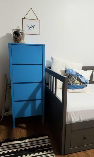 Kids tall blue wood dresser for Sale in Seattle, WA