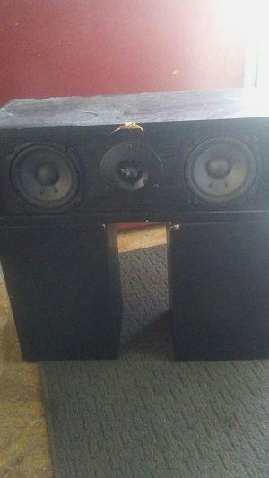 Onkyo surround speakers fusion aV s19 center and s09left and s19 right for Sale in Salt Lake City, UT