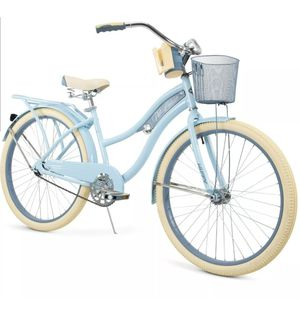 "New Huffy 26"" Womens Nel Lusso Cruiser Bike with Perfect Fit Frame, Blue for Sale in Medford, MA"