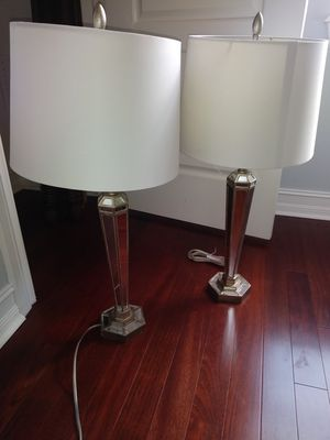 2 matching mirrored lamps 30 inches tall for Sale in Palm Beach, FL