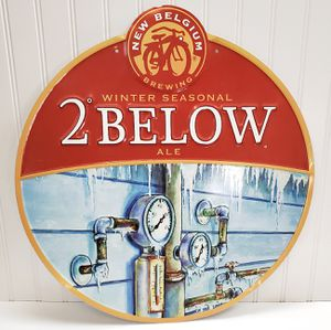 New Belgium Brewing Tin Sign 2 Below Craft Beer Brewery for Sale in Roseville, CA