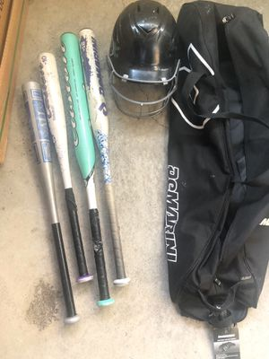 Baseball bats,helmet and bag for Sale in San Francisco, CA