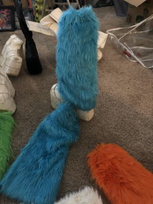 Go go dancer boot furs so many sets each $15 or get a bundle make offer or $250 for Sale in Rancho Cucamonga, CA