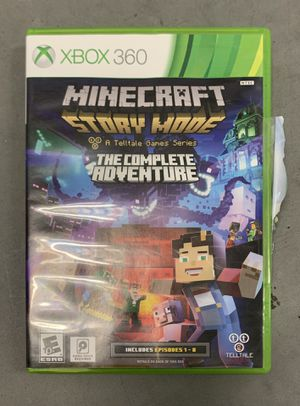 Xbox 360 Minecraft Story Mode The Complete Adventure Episodes 1-8 Video Game for Sale in Davenport, FL